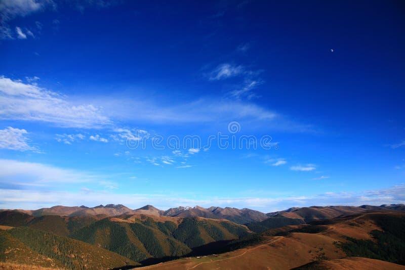 The blue sky on the highland royalty free stock photos