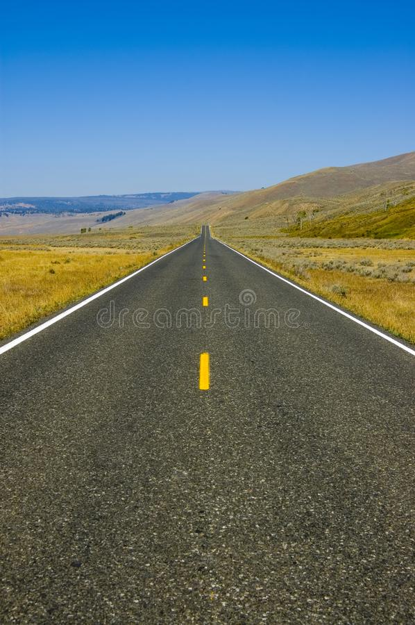 Blue sky and highway stock images