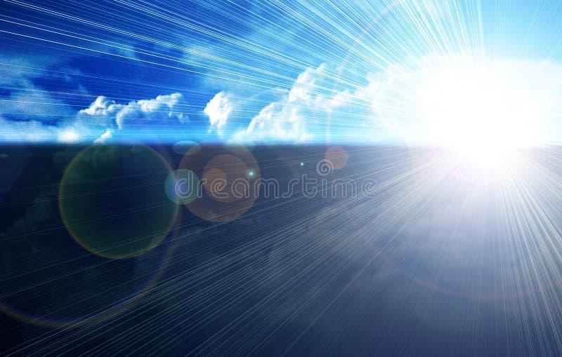 Download Blue Sky Horizon stock illustration. Illustration of background - 2458154