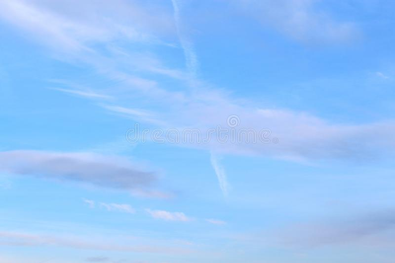 Blue Sky In Hot Summer Day royalty free stock photos