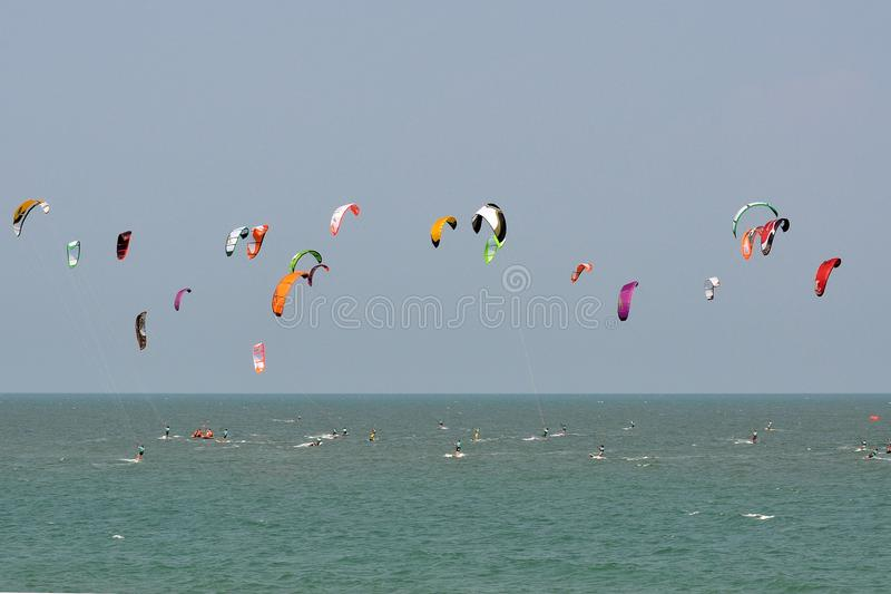 Download Blue Sky And Kitesurf In Thailand Royalty Free Stock Photography - Image: 13881167