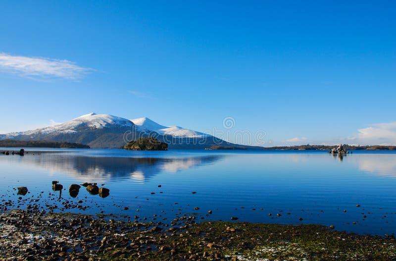 Blue landscape royalty free stock photography