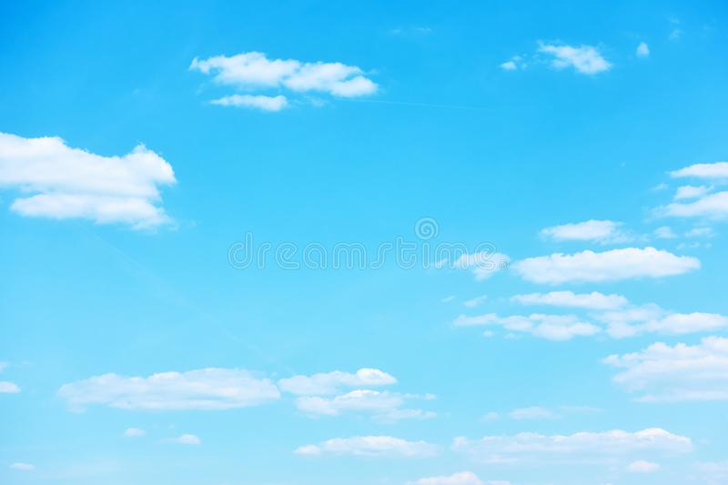 Blue sky with light clouds stock image