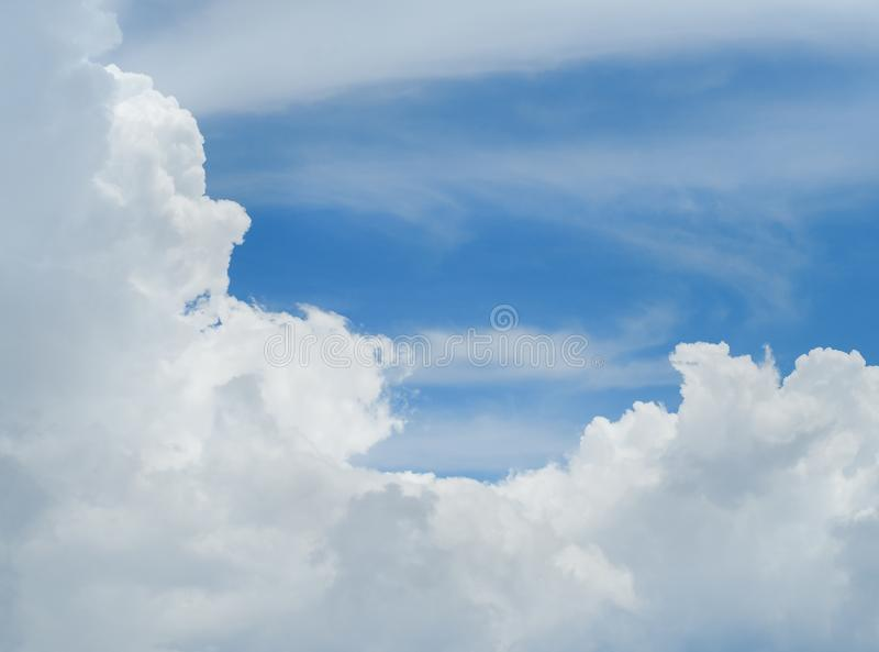 Blue sky with lots clouds royalty free stock photography