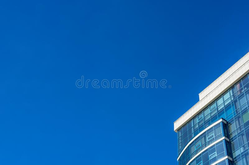Sky and modern business building. Copyspace. Blue sky and modern business building. Copyspace stock image