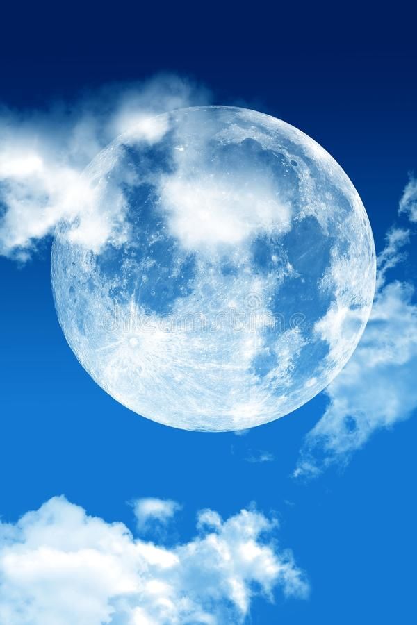 Download Blue Sky Moon stock photo. Image of abstract, large, cosmos - 24165006