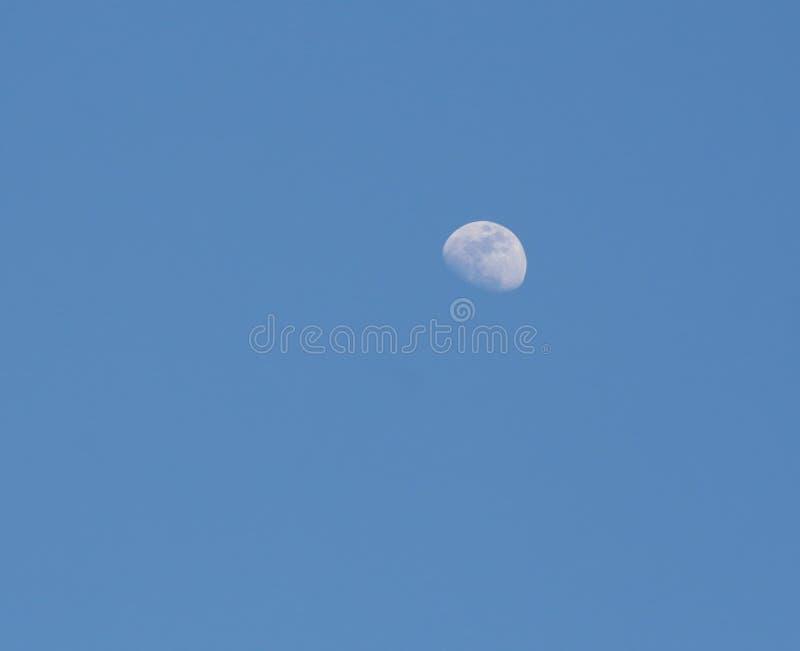 Blue sky moon background stock image