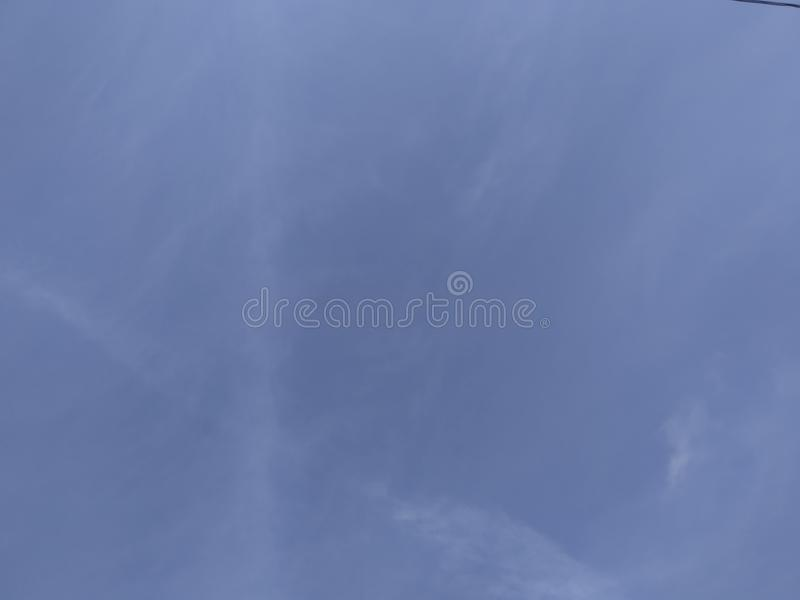 Blue sky in the morning royalty free stock image