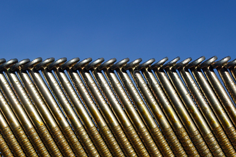 Download Blue sky and nails stock photo. Image of metal, nail, background - 47092