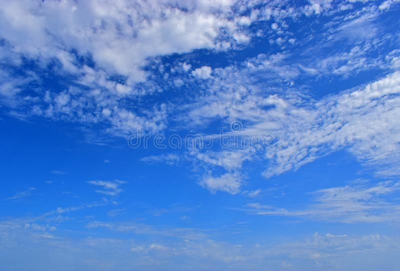Blue Sky And Clouds Background royalty free stock photo