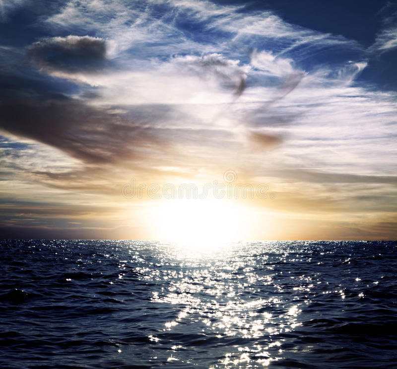 Download Blue sky and ocean stock image. Image of cloud, background - 27785319
