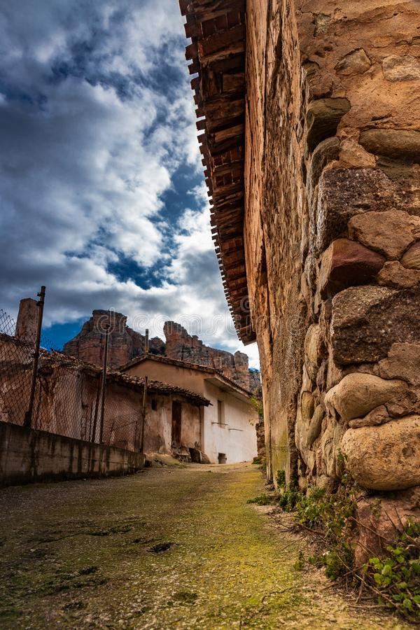 Old village stone stock photography