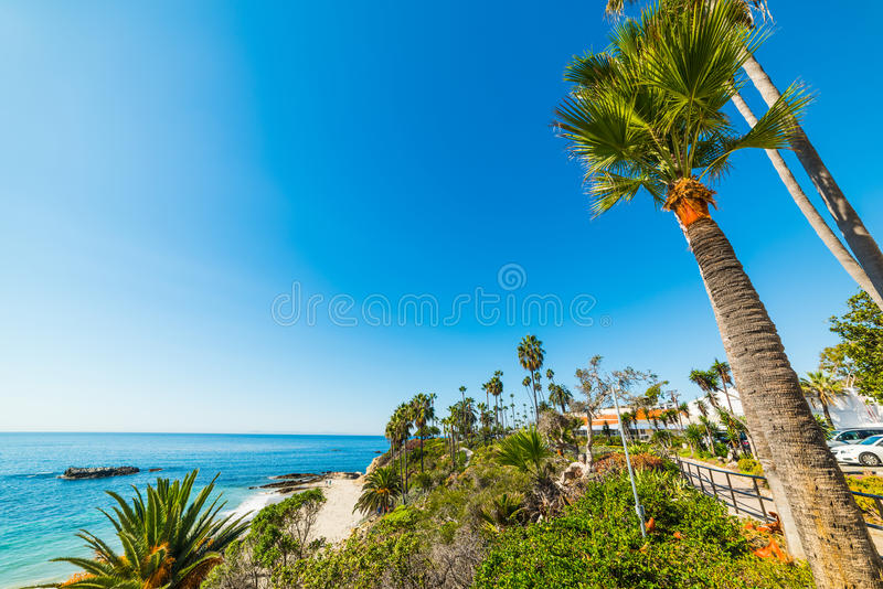 Blue sky over Laguna Beach. California stock images