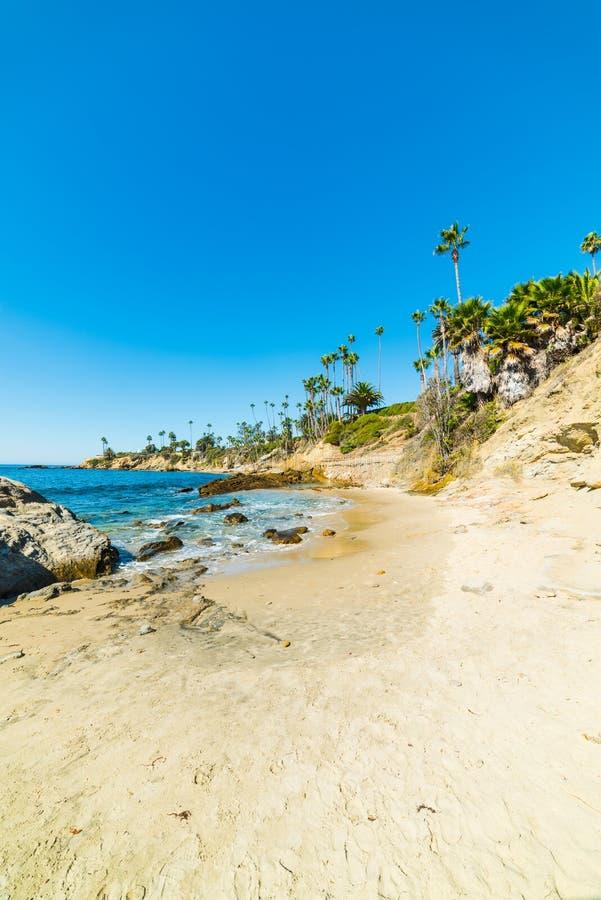 Blue sky over Laguna Beach. California royalty free stock photo