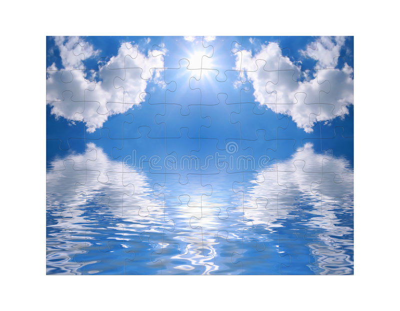 Download Blue Sky And Of Puzzle Stock Images - Image: 5519364