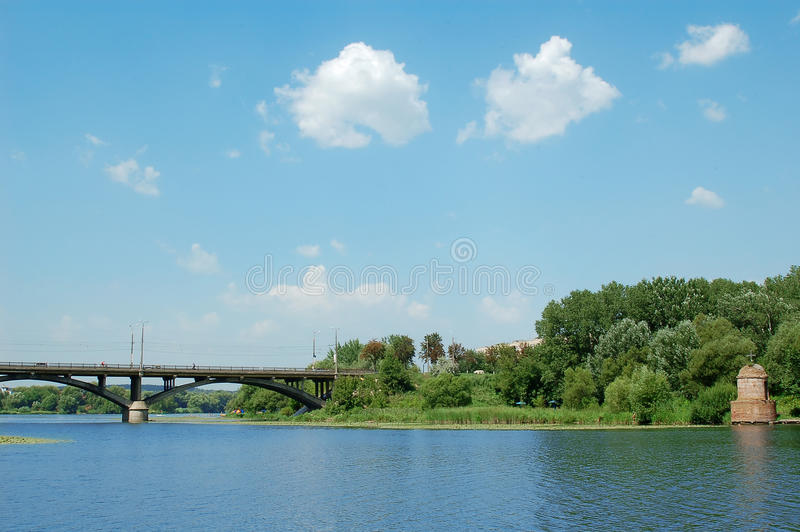 Download Blue sky and river stock photo. Image of season, summer - 15326148