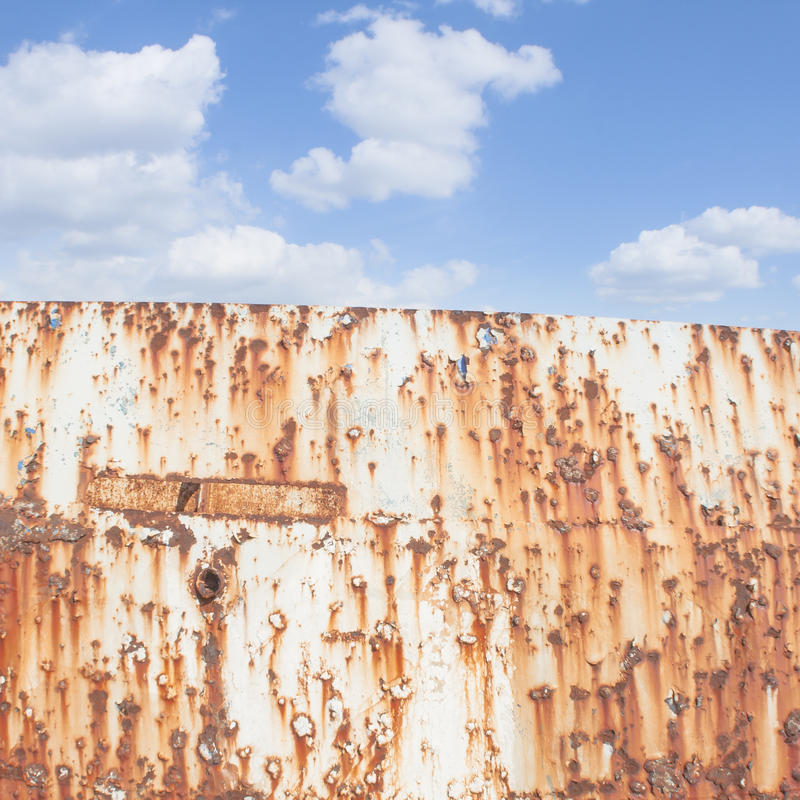 Blue Sky and rust royalty free stock image