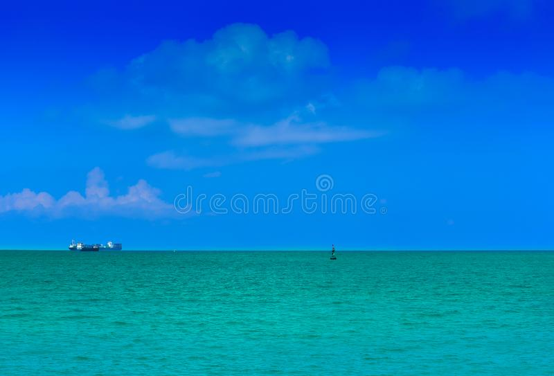 Blue sky with blue sea. Blue sky with the sea blue for sea escape royalty free stock photography
