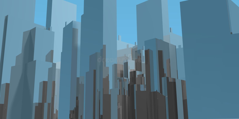 Blue sky skyline stock illustration