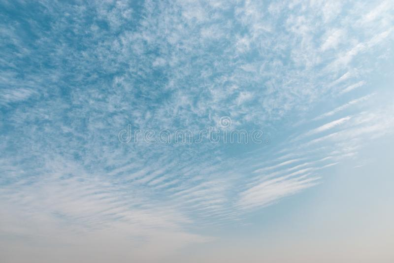 Blue sky with small clouds royalty free stock photos