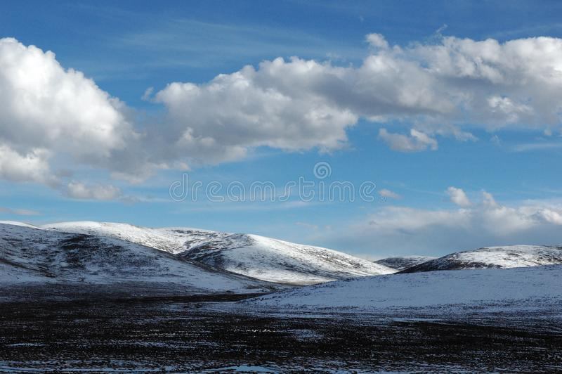 Blue sky and snow mountain 2 royalty free stock photo