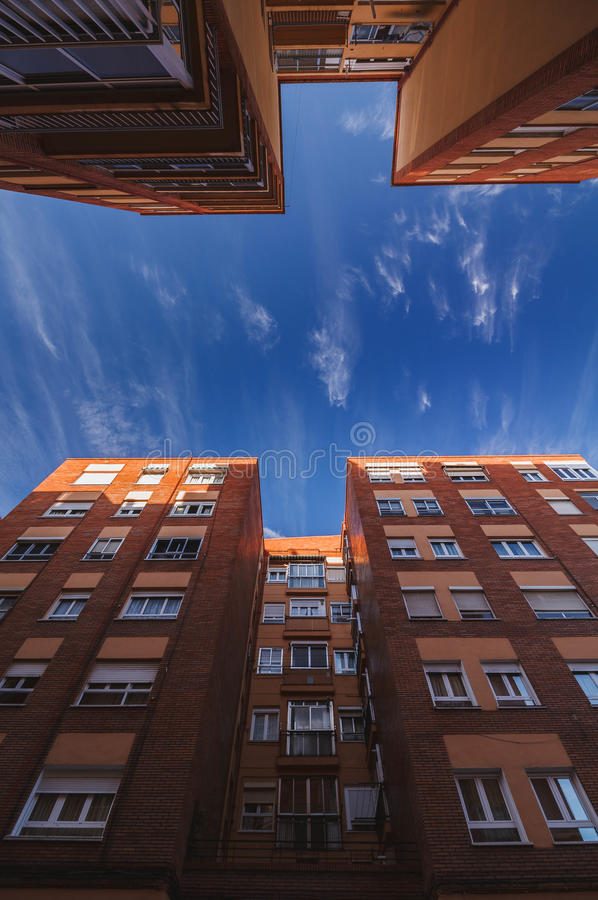 Blue sky from the streets royalty free stock photo