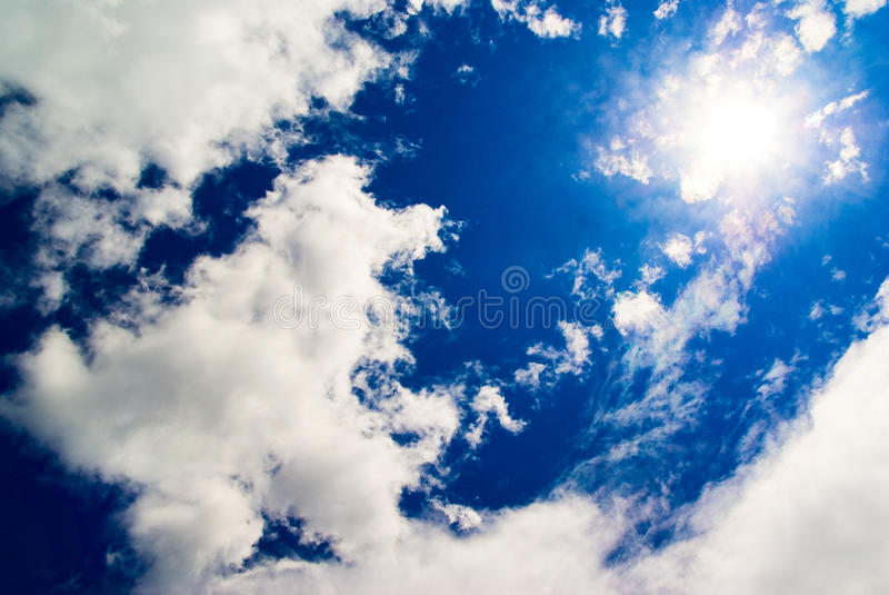 blue sky and Sun royalty free stock image