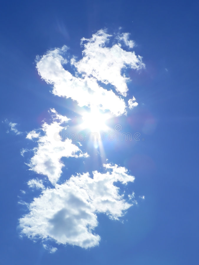 Download Blue sky and sun rays 2 stock image. Image of bright, heavenly - 2704729