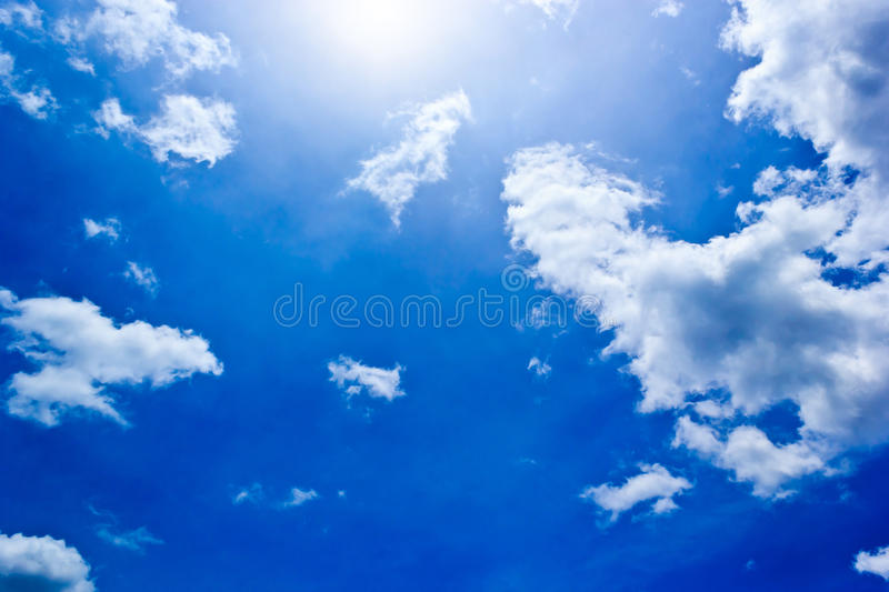 Blue Sky. Sunny and blue sky in the afternoon sunshine royalty free stock images