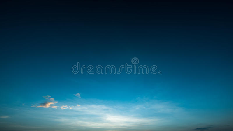 Blue sky before sunrise in the winter. Beautiful blue sky before sunrise in the winter royalty free stock photos