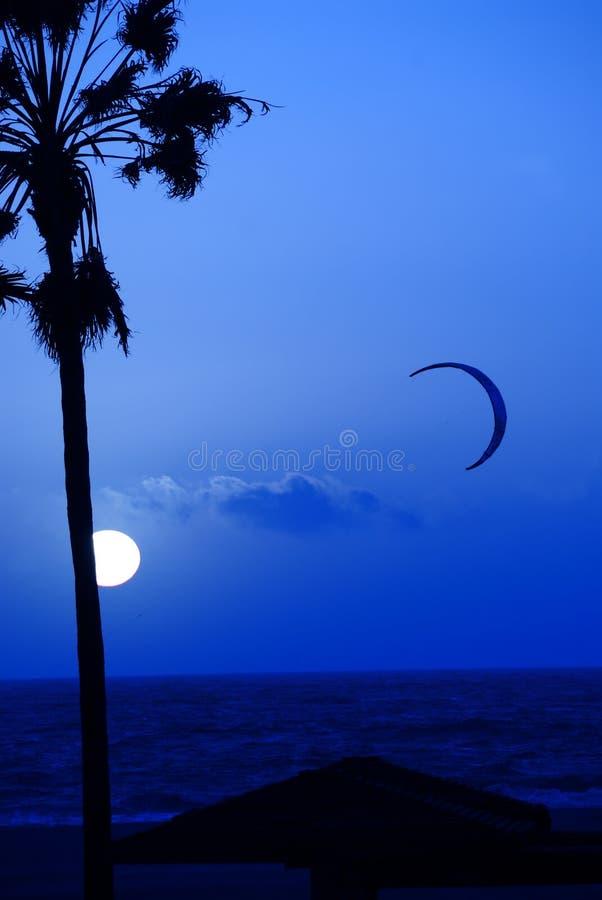 Blue Sky Sunset royalty free stock image