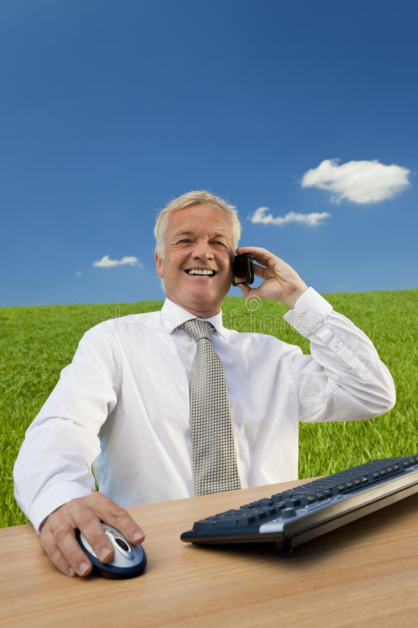 Download Blue Sky Thinking stock photo. Image of middle, mobile - 9623870