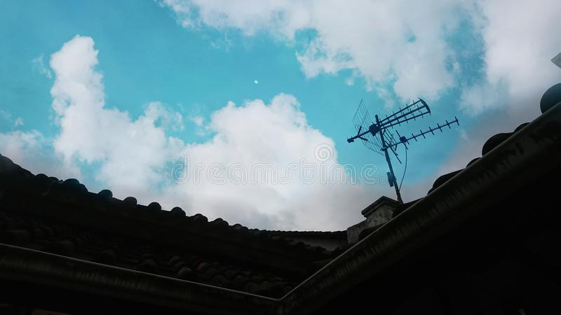 BLUE SKY AT WEST JAVA INDONESIA. Blue sky,10 august 2019 beautiful sky at Ciamis,west java,Indonesia i look it stock photography