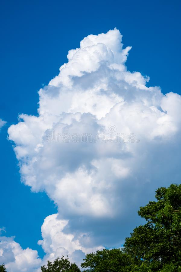 Blue sky with white cloud royalty free stock photography