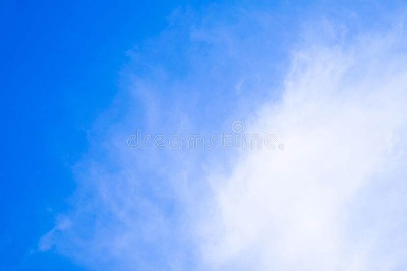 The blue sky with white cloud. Beautiful sky. Abstract background royalty free stock images