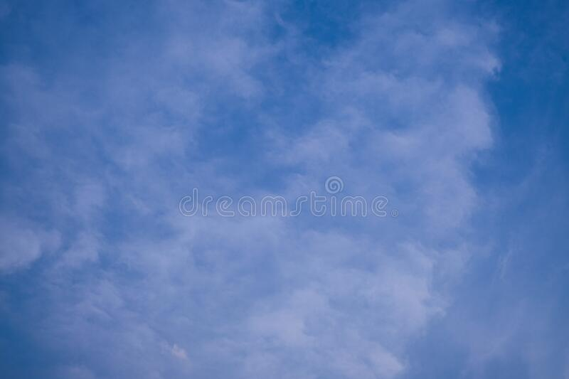 The blue sky with white cloud. Beautiful sky. Abstract background stock images