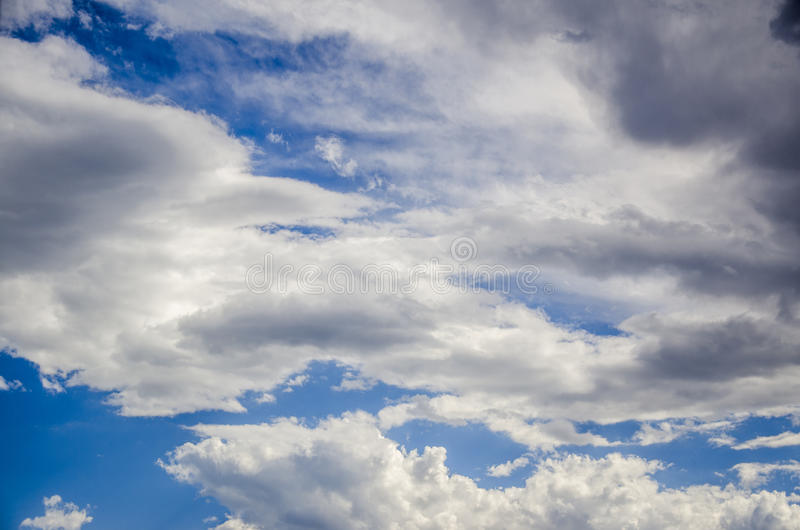 Blue sky and white cloud royalty free stock photography