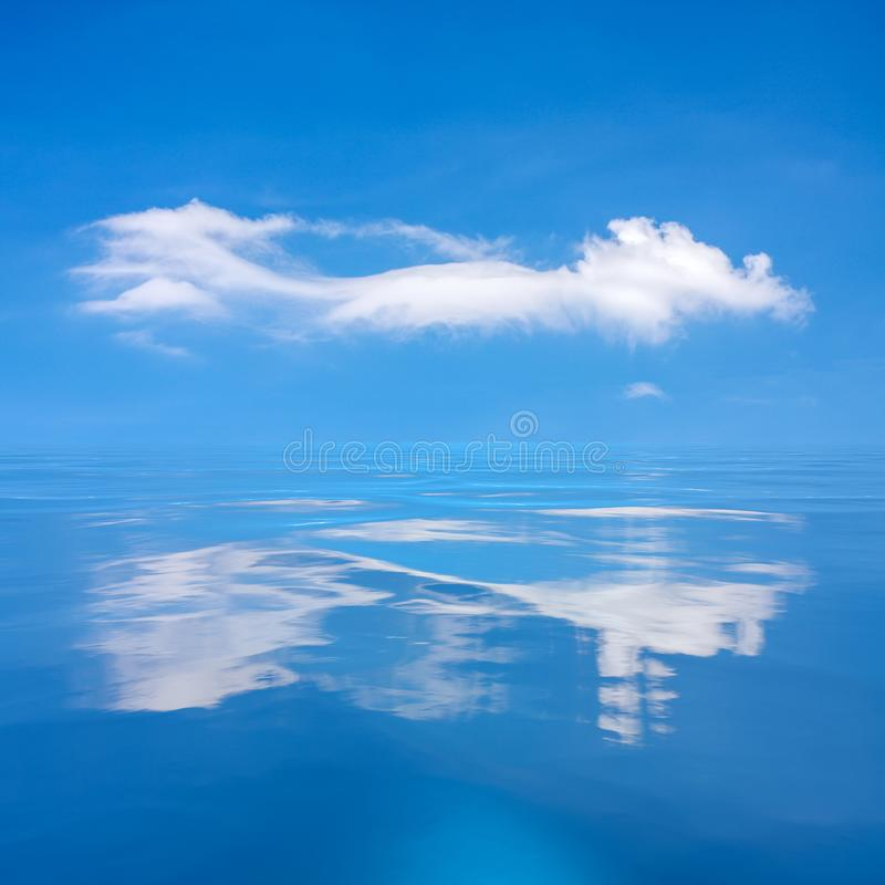 blue sky with white cloud over the sea royalty free stock photo
