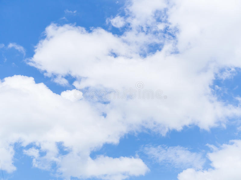 Blue sky and white cloud. royalty free stock images