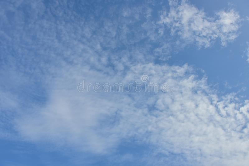 Blue sky white cloud white background. Beautiful sky and clouds in the afternoon stock photos