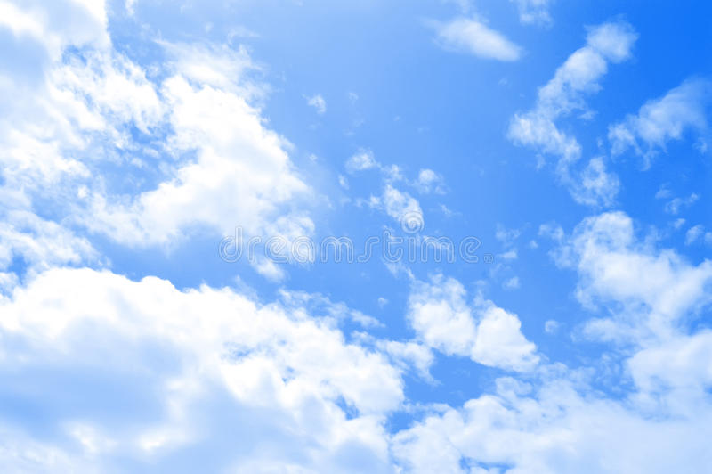 Download Blue sky with white clouds stock photo. Image of nature - 10021000