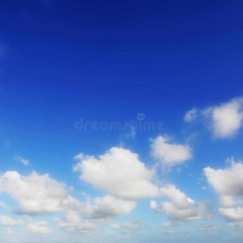 Blue sky and white clouds. Under the blue sky white clouds stock photography