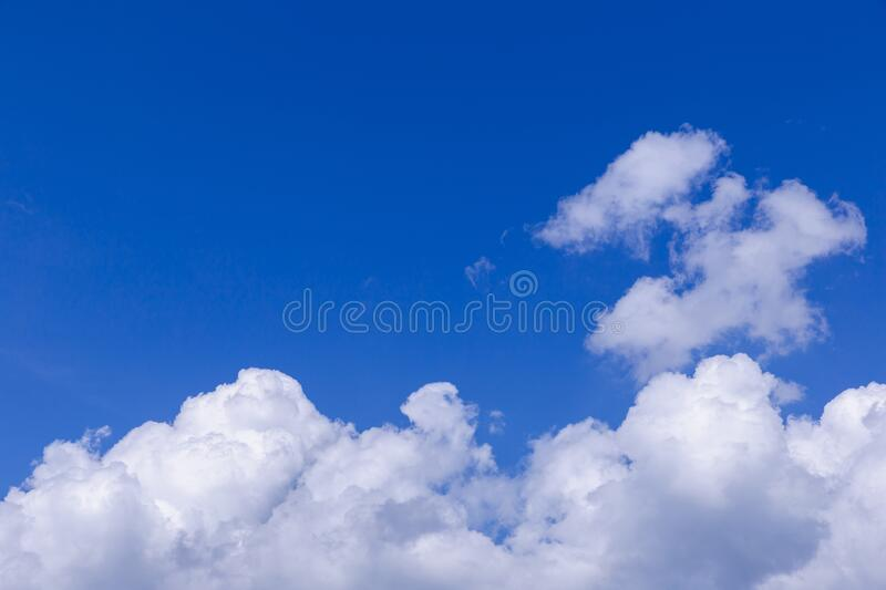Blue sky and white clouds stock photos