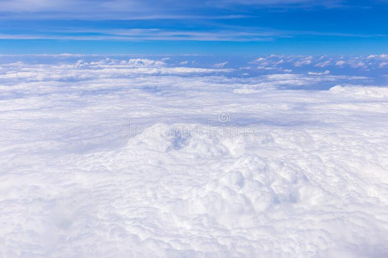 Blue sky and white clouds royalty free stock photography