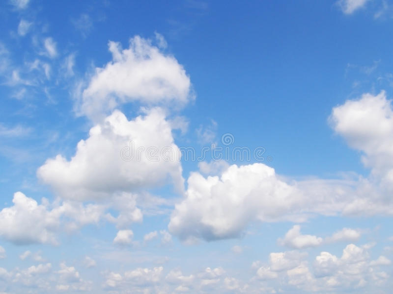 Download Blue sky and white clouds stock photo. Image of sphere - 20064834