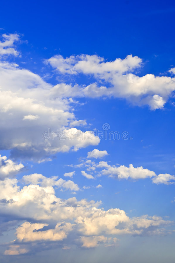 Download Blue sky with white clouds stock photo. Image of outdoors - 5852994