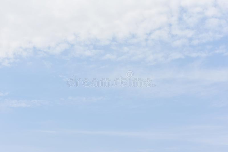 Blue sky with white clouds for abstract or nature background. royalty free stock photos