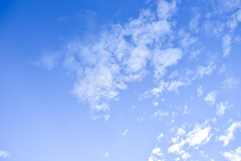 Blue sky and white clouds for background royalty free stock photo