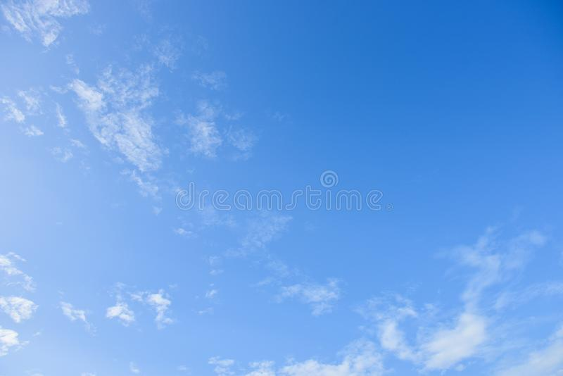 Blue sky and white clouds for background stock images