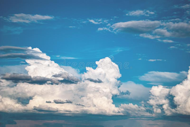 Blue sky with white clouds beautiful landscape royalty free stock photography